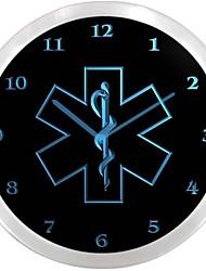 nc0713 ambulancier enseigne au néon Horloge murale LED