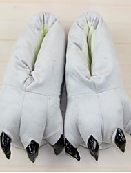 Kigurumi Pajamas Cat Totoro Shoes Slippers Festival/Holiday Animal Sleepwear Halloween Gray Solid Cotton Polyester Slippers For Unisex