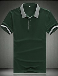 Men's Short Sleeve Polo , Cotton Casual/Work/Sport Pure