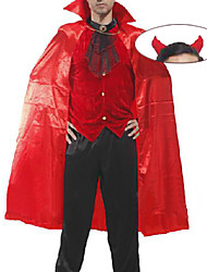 Costume sanglante diable Pure Red Polyester Hommes Halloween