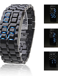 Men's Watch Faceless Watch Blue LED Lava Style Digital Plastic Band  Cool Watch Unique Watch