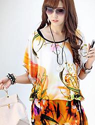 Saiwei moda padrão T-shirt Mulheres