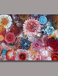 Hand Painted Modern Decoration  Flower Oil Painting with Stretched Frame Ready to Hang