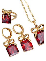 Women's 18K Gold Plating  Ring /Necklace / Earrings Jewelry Set