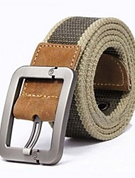 Uomo del burlone di modo libero Canvas Pin Buckle Belt