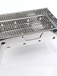 Stainless Steel Household Portable Folding Charcoal Grill,43.5x29x22cm