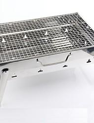 Нержавеющая сталь Бытовая Портативный складной Гриль на углях, 43.5x29x22cm