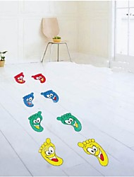 Createforlife® Cartoon Happy Little Feet Kids Nursery Room Wall Sticker Wall Art Decals