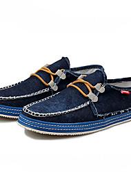 Kamanu Men's British Washed Denim Casual Canvas Shoes(Yellow,Light Blue,Blue)