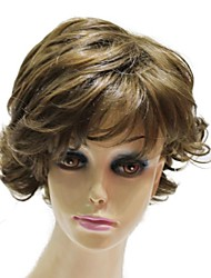 Capless Top Grade Synthetic Short Curly Synthetic Wig For Lady