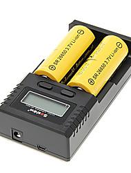 Skyray SR 26650 6000mAh da bateria com proteção de sobrecarga (2pcs) + H2 Soshine carregador de bateria e carregador de carro