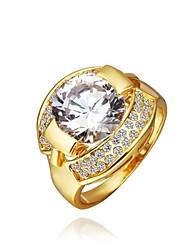 Fashion Women Golden Zircon Fashion Rings(Golden)(1Pcs)