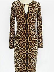 Leopard Vestido Estampado de Mujeres ORG
