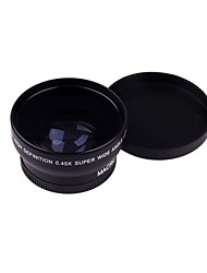 52MM 0.45X Wide Angle Lens Macro  Lens Bag for Nikon D5000 D5100 D3100 D7000 D3200 D80 D90