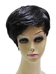 Capless Top Grade Synthetic Short Black Straight Synthetic  Wigs