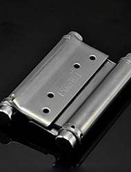 91mm × 65mm Spring Loaded Brushed Stainless Steel Bidirectional Door Hinge