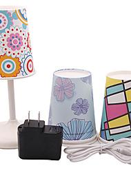 творчество пластик USB LED ночник (включают 1 адаптер питания & 1 USB линии передачи данных и 5 водонепроницаемый оттенок)