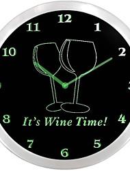 Décor Temps Wine Bar Beer Neon Le signe de nc0924 Il LED Horloge murale