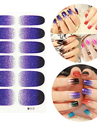 28PCS scintillants des dégradés Nail Art Stickers Série M n ° 117