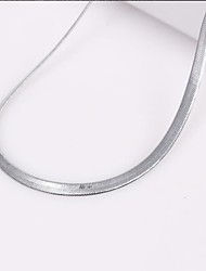 Eruner®Unisex 3MM Flat Snake Chain Silver Chain Necklace NO.67