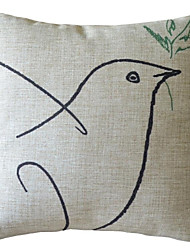 Эскиз голубь мира декоративным покрытием Подушка
