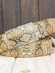 Serpente Moda Linhas projeto Cinturão de couro de vaca dos homens