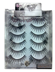 6 pairscoolflower false eyelashes 021#