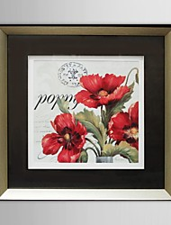 Floral Red Flowers Framed Art Print