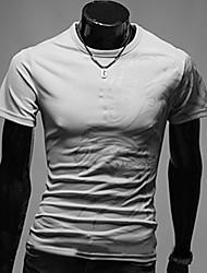 Mark Herren Rundhals-Blumendruck Kurzarm-T-Shirt