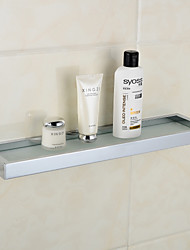 Chrom Finish Brass Bath Shelf, L49.6cm x W12.2cm x H3cm