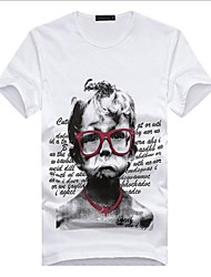 Men's Creative Expression Bottoming Shirt printing Cotton T-shirt