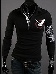 Informeel Shirt Kraag - MEN - T-shirts ( Katoen/Katoenmengeling )met Lange Mouw