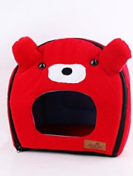 Lefdy Pet Supplies ours rouge avec l'oreille lavable Doghouse