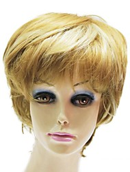Capless Top Grade Synthetic Blonde Short Straight Synthetic Lady Wigs