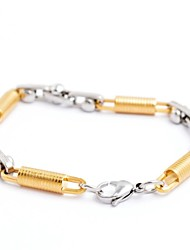 Fashion Men's Schroef Patroon Titanium Staal Armbanden