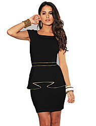 Q Women's Sleeveless Fitted Bodycon Dress