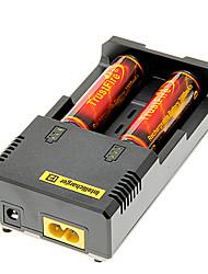 TrustFire 3000mAh 18650 (2pcs) com proteção de sobrecarga + NETCORE I2 Carregador de Bateria