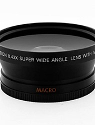 67mm 0.43X High Definition Wide Angle Lens with Macro+Front & Rear Cap for SLR DSLR camera