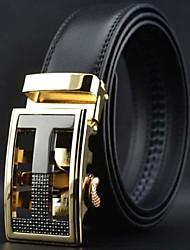 Мужская Мода и развлечения Бизнес Автоматическая пряжка кожаный ремень