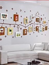 Quadro 3 cores Photo Set de 17 com adesivos de parede