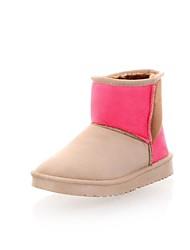 Das Suede Mulheres salto baixo tornozelo botas de neve (mais cores)