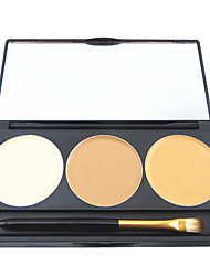 3 Color 5in1 Professional Concealer Foundation Blusher Bronzer Makeup Cosmetic Palette with Mirror&Brush Set