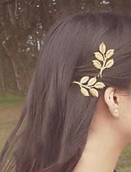 glückliche Puppe Olivenblattform Haarspange