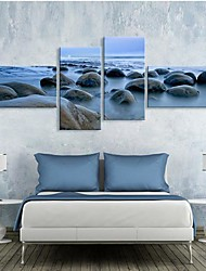 Stretched Canvas Art Rock Patch Set of 4