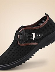 Heel Sneakers Flat Round Toe Moda Uomo in pelle con scarpe stringate (altri colori)