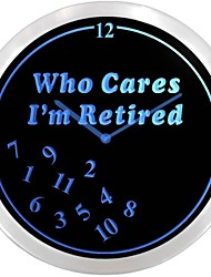 nc0963 retraités Who Cares Temps Néon LED Horloge murale