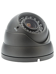 À prova de vandalismo 700TVL Sony CCD 2.8-12mm Lens Vari-focal 36 LEDs IR Night Vision Camera Waterproof Dome