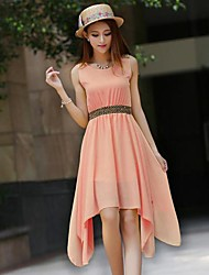 The One & Only Women's New Style Korean Sleeveless Chiffon Dress G02B0617