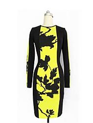 Das One & Only Frauen New-Art-Druck Langarm Kleid N6186401