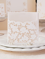 Flora Style Art Paper Tri-Fold Wedding Invitation-Set Of 50